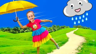 Download Rain Rain Go Away Song with Maya and Little Baby Doll | Nursery Rhymes Video