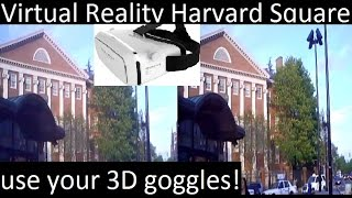 Download Virtual Reality Harvard Square - use your 3D goggles! #harvard #VR #3D Video