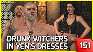 Download The Witcher 3 ♥ 3 Witchers Get Drunk and Put on Yennefer's Clothes #151 Video