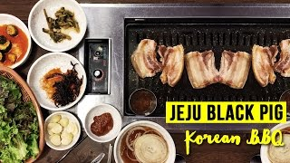 Download Korean Black Pig BBQ at Jeju Island & Tour of Folk Village Video