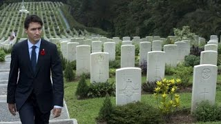 Download Justin Trudeau visits Canadian graves at Hong Kong war cemetery Video