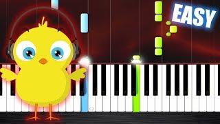 Download PULCINO PIO - El Pollito Pio - EASY Piano Tutorial by PlutaX Video