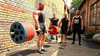Download Bodybuilder Owns FOUR Powerlifters! Deadlift Session Video