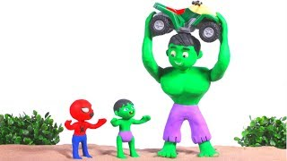 Download STRONG SUPERHERO LIFTS THE MOTORBIKE ❤ SUPERHERO BABIES PLAY DOH CARTOONS FOR KIDS Video
