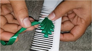 Download Ribbon Leaf Amazing Hand Embroidery Work With Comb Crafts Flower All Over Design Video