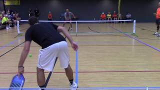 Download International Indoor Pickle Ball Tournament 2016, Mens Singles Open Gold Medal Match Game 1 Video