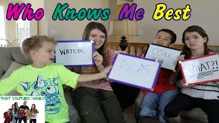 Download Who Knows Me Best Video
