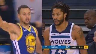 Download Stephen Curry & Derrick Rose Destroy Each Others Team in Amazing Duel! Warriors vs Timberwolves Video