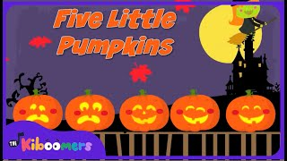 Download Five Little Pumpkins Sitting On a Gate | Halloween Songs for Kids | Pumpkin Song | The Kiboomers Video