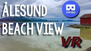 Download View from a beach in Ålesund VR Video