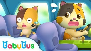 Download Safety Tips in a Car | Kids Safety Tips | Play Safe Song | Nursery Rhymes | Kids Songs | BabyBus Video