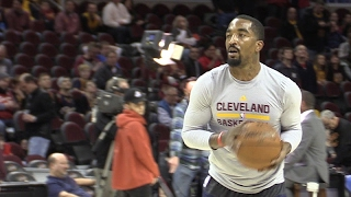 Download J.R. Smith tests broken thumb before Cavs vs. Pacers Video