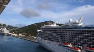 Download Disney Fantasy vs Regal Princess dueling ship whistles Video