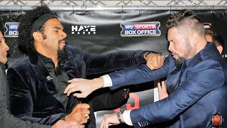 Download David Haye punches Tony Bellew during heated face off! Haye vs. Bellew Full Face Off Video Video
