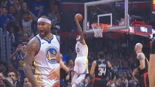 Download DeMarcus Cousins' First Bucket With Warriors In Debut! Warriors vs Clippers Video