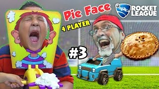Download PIE FACE CHALLENGE GAME w/ Let's Play ROCKET LEAGUE Part 3: BOTS! (FGTEEV Family Fun) Video