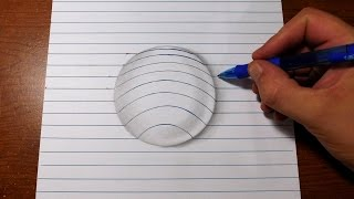 Download How to Draw 3D Art - Easy Line Paper Trick Video
