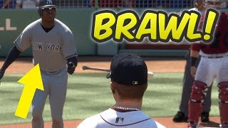 Download MLB THE SHOW 17 BRAWL | WHAT HAPPENS IF WE HIT EVERY BATTER IN RANKED SEASONS! Video