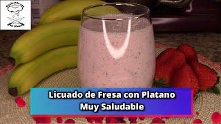 Download Licuado de Fresa y Plátano Muy Saludable Video