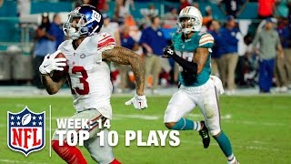 Download Top 10 Plays (Week 14) | Cam Newton's Laser Pass, Beckham's Toe Drag Swag & More | NFL Video