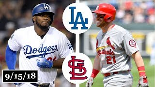 Download Los Angeles Dodgers vs St. Louis Cardinals Highlights || September 15, 2018 Video