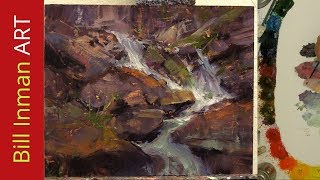Download How to Paint a Waterfall - Oil Paint - Fast Motion Art Video Song of the Lonely Mountain Bill Inman Video