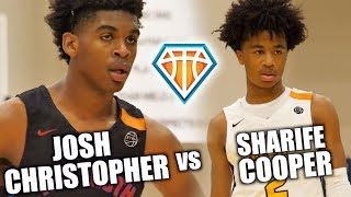 Download Sharife Cooper vs Josh Christopher!! | BATTLE OF TOP 2020 GUARDS at EYBL Indy Video