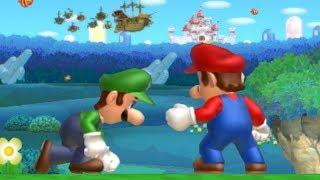 Download New Super Mario Bros U Co-Op Walkthrough - World 1 (All Star Coins) Video