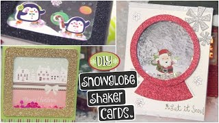Download DIY SNOWGLOBE CARD // Shaker Cards for Christmas, Holidays & Winter How To Video
