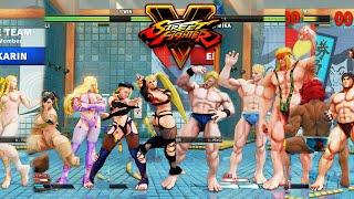 Download Street Fighter V AE R. Mka/Cammy/Kolin/Chun Li/Karin vs Ed/Cody/Alex/Akuma/Ryu PC Mod Video