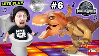 Download Lets Play LEGO Jurassic World Part 6: ♫ DINO Dance Moves ♫ w/ Scary Ending! (THE END, Seriously!) Video