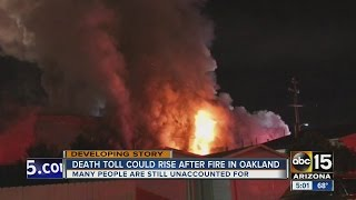 Download Death toll on the rise in Oakland warehouse fire Video
