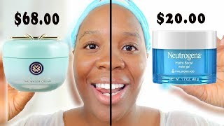 Download Neutrogena Hydro Boost Water Gel vs.Tatcha Water Cream! Skincare Dupes for High end Products Video