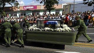 Download Fidel Castro's funeral procession reaches final destination Video