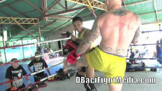 Download Mark ″Super Samoan″ Hunt trains With UFC vet Brodie Farber @ Tiger Muay Thai & MMA, Phuket, Thailand Video