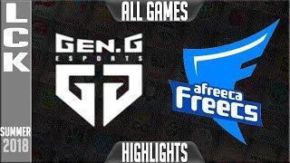 Download GEN vs AFS Highlights ALL GAMES | LCK Playoffs Wild Card Summer 2018 | Gen.G vs Afreeca Freecs Video