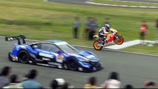 Download [HD]史上初!NSX CONCEPT-GT vs RC213V エンジョイホンダ熊本2014 Video