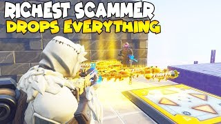Download Richest Scammer Loses Everything! Rarest Guns 😱 (Scammer Gets Scammed) Fortnite Save The World Video