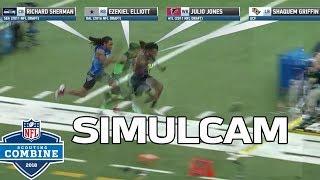 Download 40-Yard Dash Simulcam: Shaquem Griffin vs. Sherman, Zeke, Julio & More! | NFL Combine Highlights Video