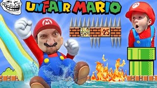 Download UNFAIR MARIO! IMPOSSIBLE GAME? w/ FGTEEV Duddy & Chase (Super Mario Bros Fun Gameplay) Video