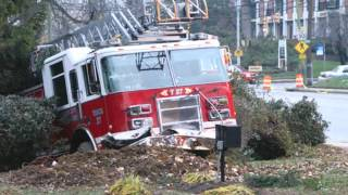 Download 911 FIRE Trucks crash while responding Video
