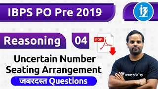 Download 9:00 AM - IBPS PO Pre 2019 | Reasoning by Sachin Sir | Uncertain Number Seating Arrangement Video