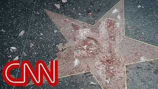 Download Trump's Hollywood star destroyed Video