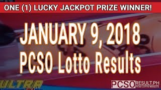 Download PCSO Lotto Results Today January 9, 2018 (6/58, 6/49, 6/42, 6D, Swertres, STL & EZ2) Video