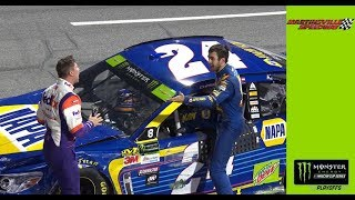 Download Denny Hamlin, Chase Elliott get face to face, exchange words Video