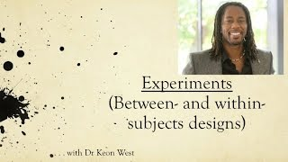 Download 18. Experimental Design (Between and within subjects) Video