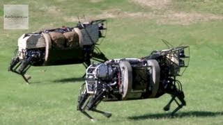 Download AlphaDog, U.S. Marines Robot Pack Animal - Legged Squad Support System Video