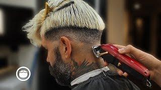 Download Insane Barber Skills on Handsome Male Model | ODPHADEZ Video