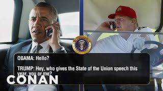 Download Donald Trump Keeps Calling Barack Obama - CONAN on TBS Video