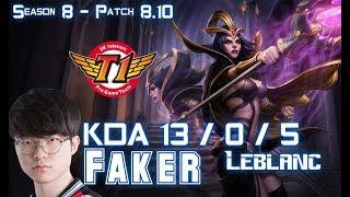 Download SKT T1 Faker LEBLANC vs IRELIA Mid - Patch 8.10 KR Ranked Video